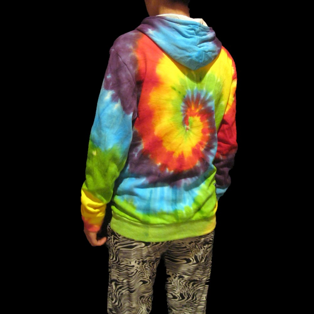 Pull Arc 1 Tourbillon Fait Coloré Tie Classique dye en Amoureux 2 Main Éponge Skateboard Sweats Capuches ciel 4jR35LqA