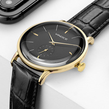 Men Watches Luxury Brand Quartz Genuine Leather Strap Ultrathin Wrist Waterproof High Quality Relogio Masculino
