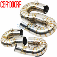 Motorcycle Exhaust Middle Pipe System Case For HONDA CBR1000RR 2008 2009 2010 2011 2014 Muffler Pipe Front Header Pipe Tube AK01