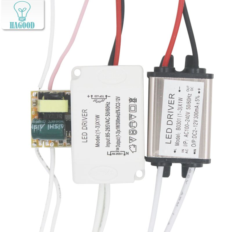 1-3W LED light driver DC3-11V AC 90-265V transformer Constant Current 300mA power supply adapter for led lamps/chip DIY water resistance 19 24w led constant current source power supply driver 90 265v