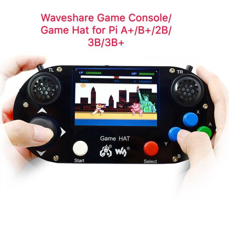 Consola de jogos/Jogo Chapéu para Raspberry Pi +/B +/2B/3B/3B +, 3.5 polegada da tela IPS, 480*320 pixel. 60 quadro, Onboard orador, jack do fone de ouvido