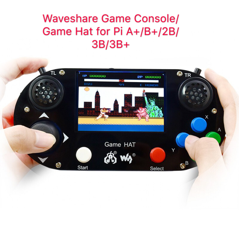 Game Console/Game Hat For Raspberry Pi A+/B+/2B/3B/3B+,3.5inch IPS Screen,480*320 Pixel .60 Frame ,Onboard Speaker,earphone Jack