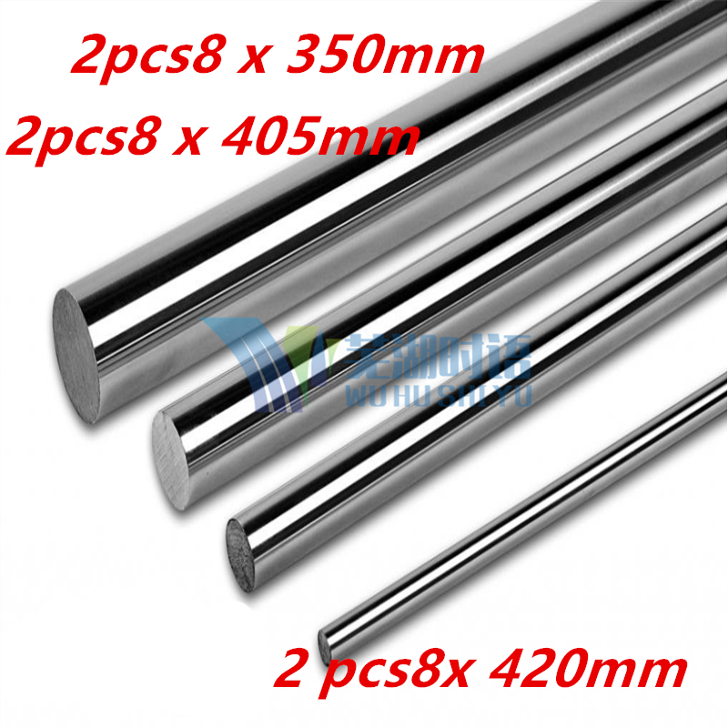 8mm smooth rod linear shaft set : 2 x 350mm ,2 x 405mm , 2 x 420mm for 8mm linear shaft LM8UU CNC parts 3D printer parts 8mm linear shaft group 33pcs l350mm 33pcs l405mm 33pcs l420mm for 8mm rod shaft lm8uu