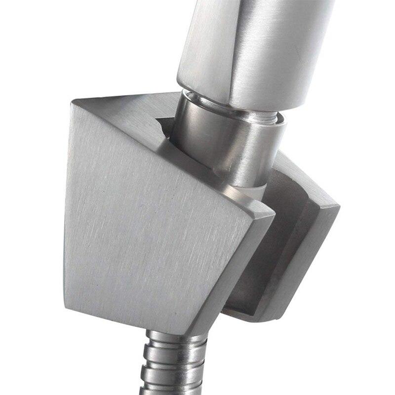 304 Stainless Steel Waterproof Adjustable Bathroom Bidet Shower Head Sprayer Shattaf Wall Mounting Bracket Showerhead Holder