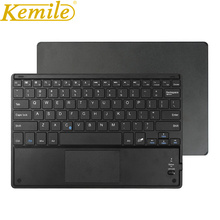 Kemile Ultrathin Wireless Bluetooth Keyboard with Built-In Multi-Touch Touchpad Keyboard For Android Windows Microsoft Surface