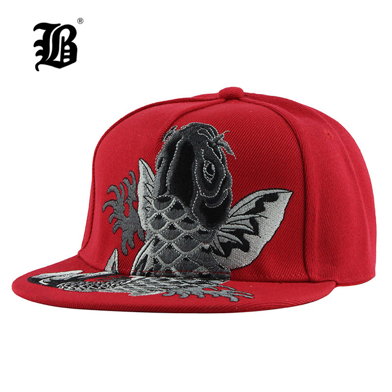 [FLB] Brand High Quality Snapback Cap Embroidery Flat Brim Baseball Cap Cotton Youth Hip Hop Cap And Hats For Men Women F137
