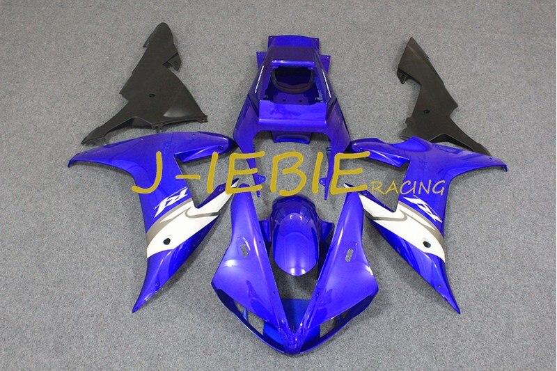 Blue white black Injection Fairing Body Work Frame Kit for Yamaha YZF 1000 R1 2002 2003