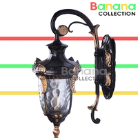 European LED lamp Aluminum Wall Outdoor Wall Sconce Lighting Waterproof Garden Wall Light Glass Porch Lights Lamparas Para