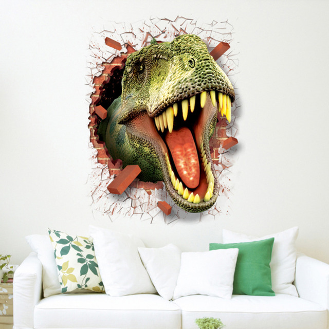 Creative 3D Wall Sticker Dinosaurs Dolphin Wall Stickers Living ...