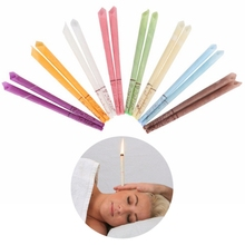 12pcs/bag Cone Beeswax Ear Candling Treatment Fragrance Candles For Therapy Wax Cleaner Removal