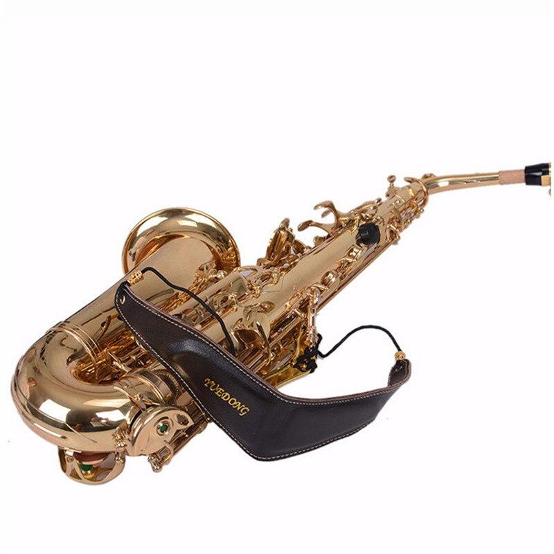Professional Comfortable high quality bird design Genuine Leather Tenor/Soprano/ Alto Sax Neck Strap Sax Harness Saxophone Strap