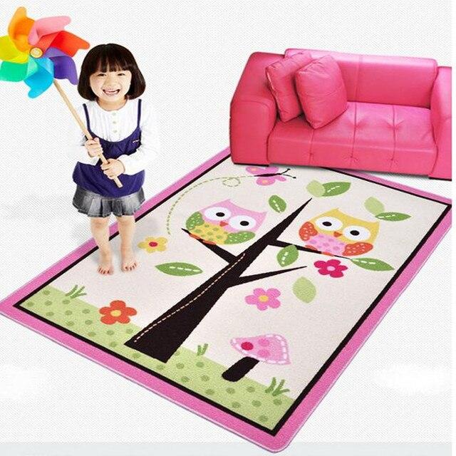 Einzigartige cartoon eule carpet designer rosa fee mädchen teppich ...