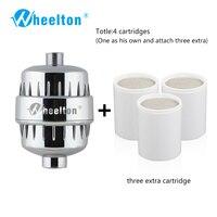 Wheelton حمام دش تصفية (H-303-3E) مطهر الكلور والثقيلة المعادن إزالة تصفية المياه لتنقية لصحة الاستحمام