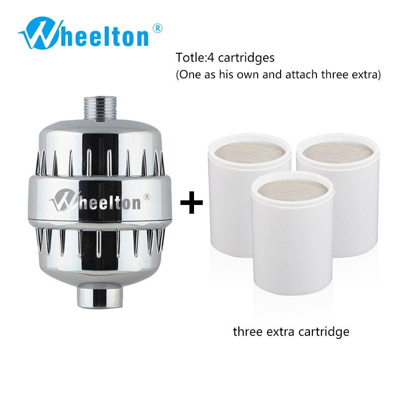 Wheelton Filtro de Banho de Chuveiro (H-303-3E) Purificador de Cloro & Heavy Metal Remoção Filtro Purificador de Água Para Banho Saúde