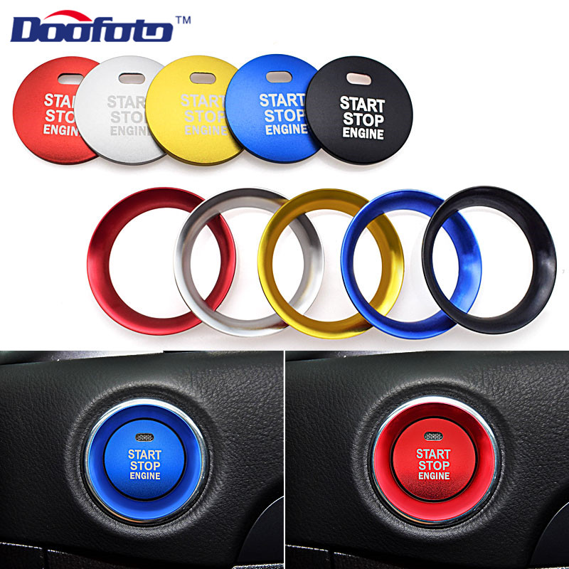Doofoto Car Styling Shell Car Start Stop Engine Button Covers Auto Decoration Rings Case For Mazda 3 6 2 CX-5 CX-9 CX-3 MX-5 CX4