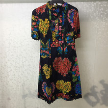 2019 Summer Dress Fashion Cotton Women Mini Dress Short Sleeve Floral Printed Dress Vestidos floral printed bell sleeve mini dress