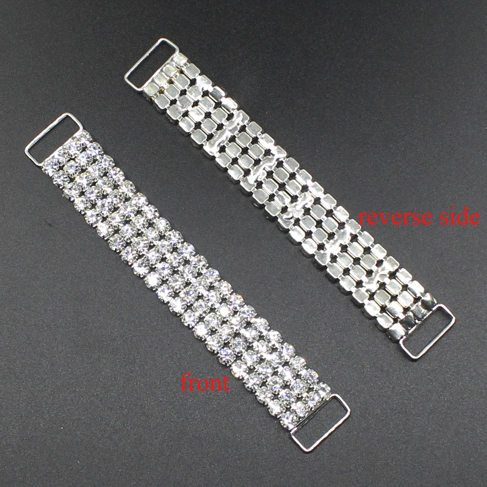 10pcs/Set 100mm Rhinestone Bikini  Buckle crystal Metal Chain Buttons Crystal Rhinestone Bikini For Swimwear, factory