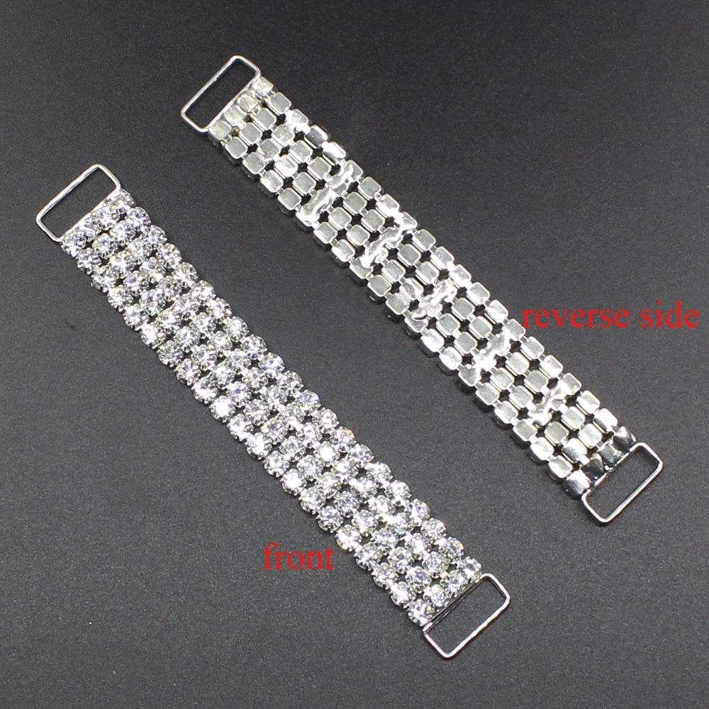 10 adet / takım 100mm Rhinestone Bikini Toka kristal Metal Zincir Düğmeleri Kristal Rhinestone Bikini Mayo Için, fabrika