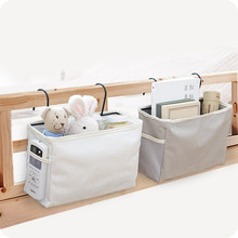 Cloth Hanging Bag Organizer Bed Storage Pocket with 2 Hooks for Table Sofa Home Decor