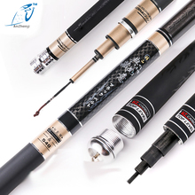 Buy 2017 99%Carbon 3.6M 4.5M 5.4M 6.3M 7.2M Long Telescopic Fishing Rod Fly Fishing Hollow Rod Carp Fishing Tackle Products China