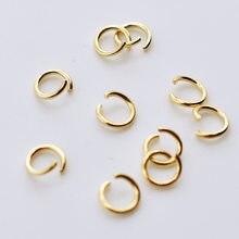 100 Aço Inoxidável Anel de Salto Aberto 4 Pçs/lote/5/6/7/8 milímetros Dia Rodada Cor do Ouro Anéis de Divisão para Diy Jewelry Making Achados Fornecedor
