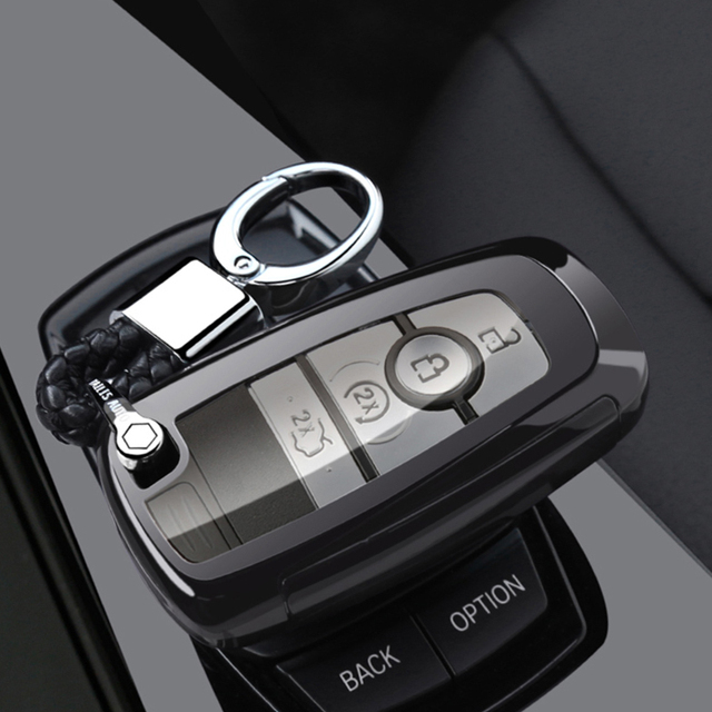 key case cover For Ford Fusion Mustang Explorer F-150 F-250 F-350 2017 2018 Remote Key Case Fob Shell Cover Skin Holder 5 Button