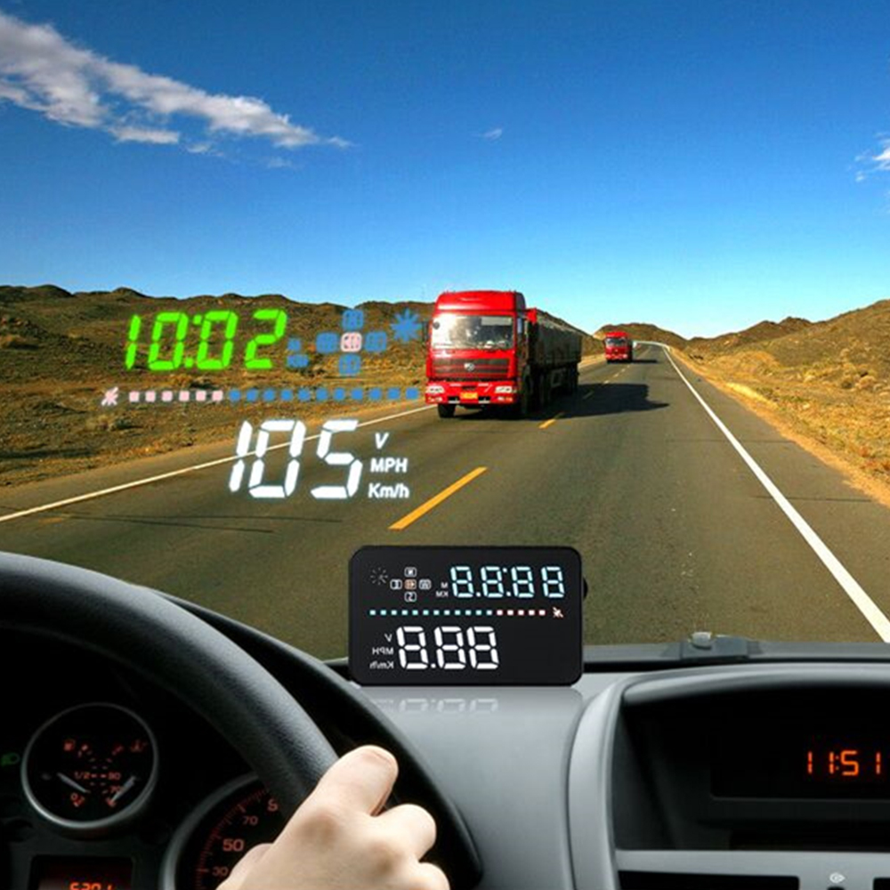 3 5 a3 hud car head up display gps speedometer windshield projector digital car speedometer. Black Bedroom Furniture Sets. Home Design Ideas