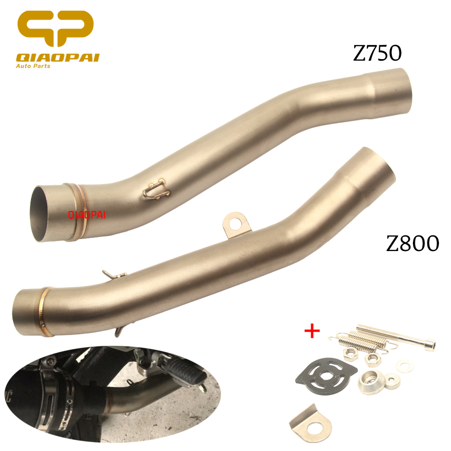 Motorcycle Exhaust Muffler 51MM Adapter Middle Tube Connect Link Pipe Escape Steel for Z800 Z 800 Z750 Z 750 Kawasaki Exhaust|Exhaust & Exhaust Systems| |  - title=