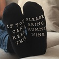 East Knitting ST07 IF YOU CAN READ THIS PLEASE BRING MUNNY WINE Fashion Funny Christmas Socks Cotton Women And Man Socks
