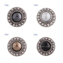 partnerbeads 12mm Small size snaps for snaps jewelry small size snaps style buckle fit beads jewelry(China)