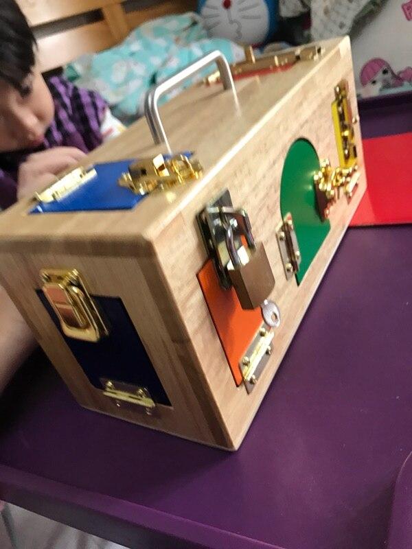 Bébé jouet juguetes montessori serrure boîte éducation de la petite enfance préscolaire formation enfants jouets pour enfants Brinquedos - 5