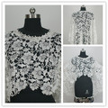 O Neck White Or Beige Lace Wedding Bolero De Renda Bridal Jackets 2015 One Piece Sleeveless Imported China