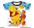 Summer boys t shirt pooh teddy bear t shirts short sleeves children brand t shirt boys clothing brand top nova kids