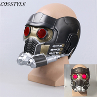 New Guardians of the Galaxy Star Lord Cosplay Helmet with Lights Eye Halloween Party PVC Mask Avengers Infinity War Cosplay Mask
