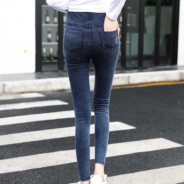 MUQGEW maternity clothes Maternity Pregnancy clothes Skinny Trousers Jeans Over The Pants Elastic vetement grossesse femme #y2 1