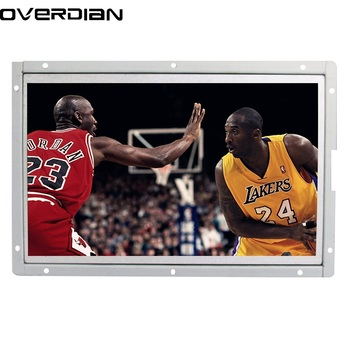 """10/10.1"""" Industrial Control Lcd None Touch Monitor VGA/DVI Interface Metal Shell White Open Frame 1024*600"""