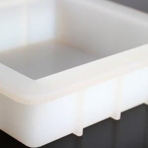 Image 5 - Molde cuadrado de silicona para jabón hecho a mano, molde de jabón de pan blanco, herramientas de fabricación de jabón
