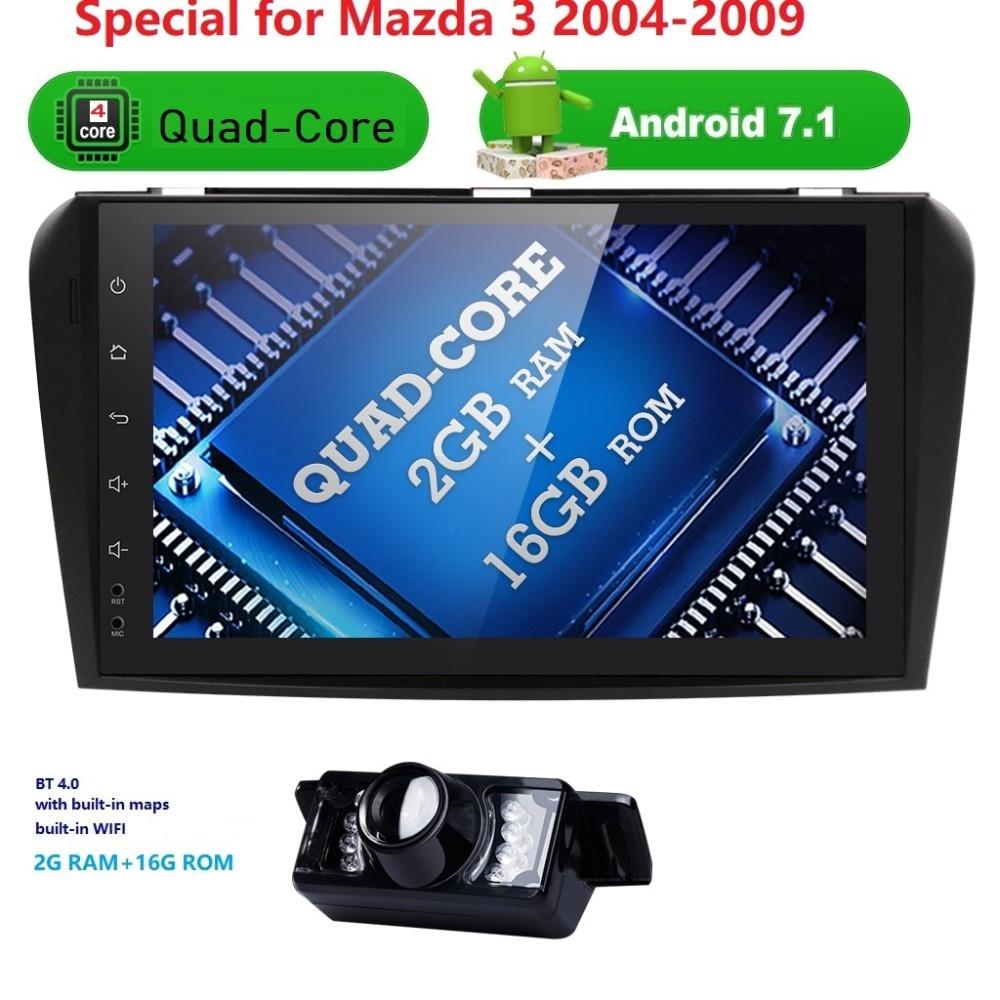 9inch Android7 1 QuadCore font b Car b font NoDVD Player For Mazda 3 Mazda3 2004