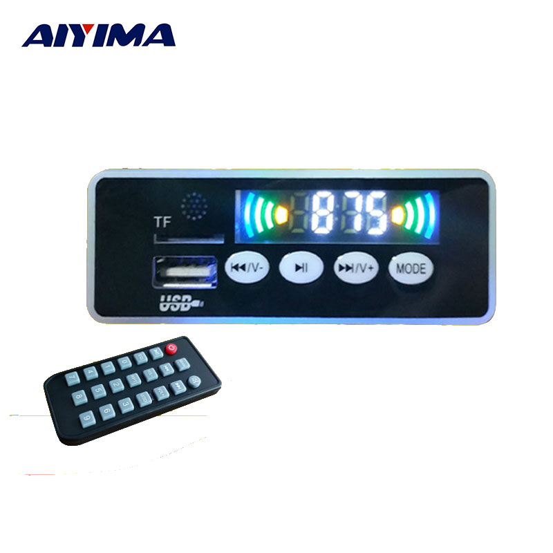 AIYIMA MP3 Player Bluetooth APE Lossless Decoder 12V MP3 Module USB Sound Card Hifi Fever Music Player SD Card Module