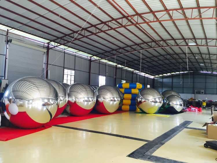 Inflatable Mirror Ball Disco Mirror Ball Light Mirror Reflection Stage Festival Hanging Balloom In Exhibition Or Event colorfull light mirror reflection glass ball stage festival hanging ball motor 10inch 19cm