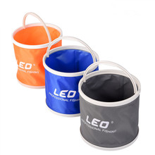 Outdoor Collapsible Fishing Bucket Portable Lightweight Canvas Folding Plastic Bucket for Camping Hiking Fishing Tackle Tools
