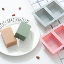 Силиконовая форма для мыла, прямоугольник формованное мыло формы для изготовления картонной шпули каменного Ручной пресс-форм ярких цветов для украшения торта средство, мыло формы
