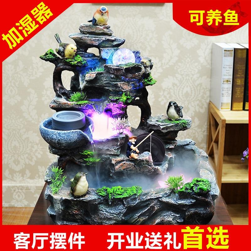 abriendo regalos casa feng shui bola bonsai rocalla fuente de agua de feng shui adornos