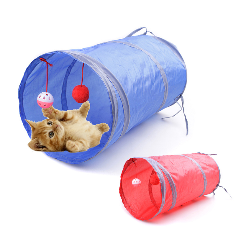 Funny Pet Cat Toys Channel Toys For Cat Animall Three layer Playing Belt Product Can Be Folded Tents Cat Toys Channel for Pet 05