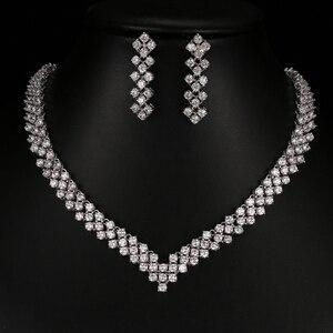 Image 5 - Emmaya boucles doreilles en cristal Zircon, strass, boucles doreilles en cristal, collier, bijoux, mariage, nouvelle collection, livraison gratuite pour femmes, nouvelle collection