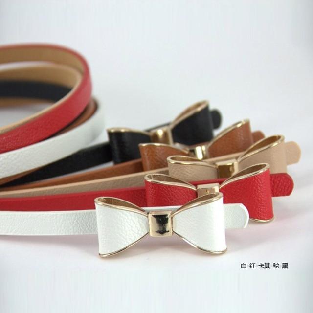Lady's Slender waist belt han phnom penh bowknot slender waist belt female new belt women fashion thin belts for women 16color
