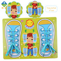 Toy Woo  Wooden Cartoon Colorful Lace Up Toys Imagination And Intelligence Training  1~5 Years Old Children