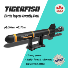 Tigerfish Electric Torpedo Assembly Model Kits DIY Extracurricular Toys Kid`s Gifts Explore the Sea