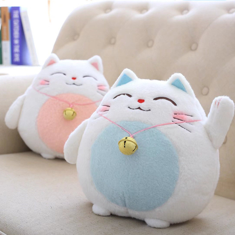 18/30cm Cute Lucky Cat Plush Toy Stuffed Animal Doll Cartoon Cats Doll Pillow Kid Toys Birthday Gift Car Home Decor High Quality 30cm plush fortune bell cat lucky cats maneki neko kitty toy stuffed doll bamboo charcoal bag activated carbon automotive decor