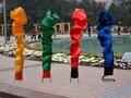 Custom Vario Color Fuego Inflable Bailarín Del Aire la Publicidad Para La Venta 6 m Cielo Bailarín Inflable Juguetes